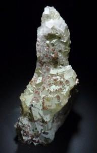 Fluorita, quars i calcopirita. Mines de Sant Marçal, Montseny, Girona. 85 x 40 mm Jesús Franquesa.